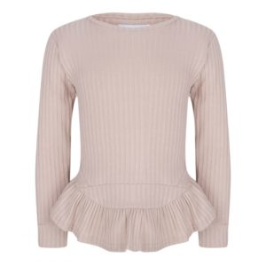 By Veer creme ruffle sweater girls