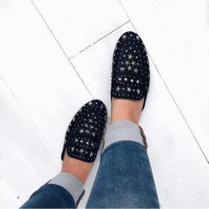 Sterren loafertjes black