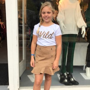 Girls collection wild t-shirt wit