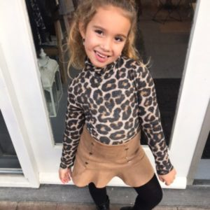 Girls collection panter print coltruitje