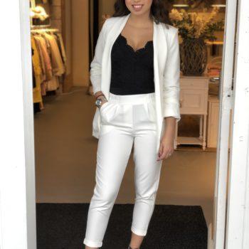 Basic blazer white