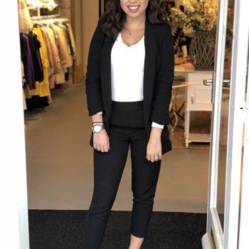 Basic pantalon black