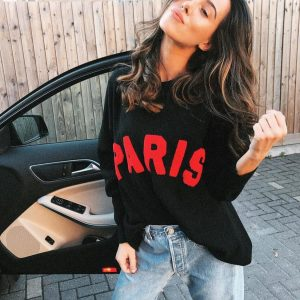 Paris sweater black