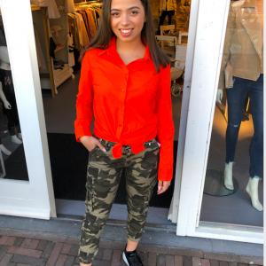 Ambika neon blouse oranje