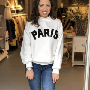 Paris sweater white