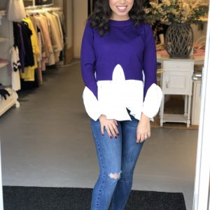Purple top with blouse