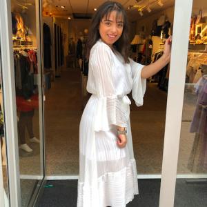 Basic maxi dress white