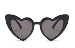 Sunglasses hearts black