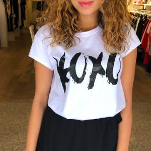 Xoxo t-shirt white black