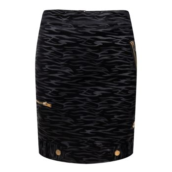 Delousion Skirt Selina Black Zebra