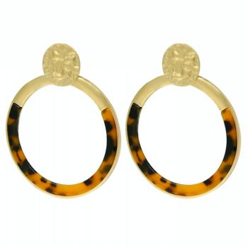 Earrings hoops creoles xl brown
