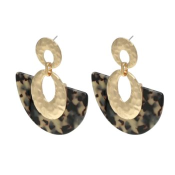 Earrings sickle moon