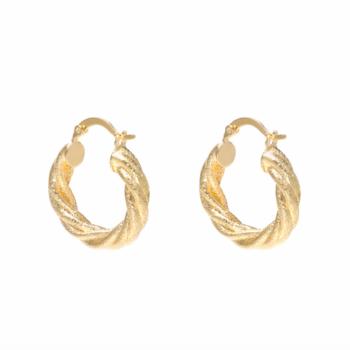 Earrings urban bling gold