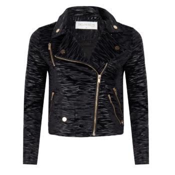 Delousion Jacket Esme Black zebra