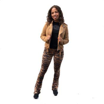 Suedine jacket cognac