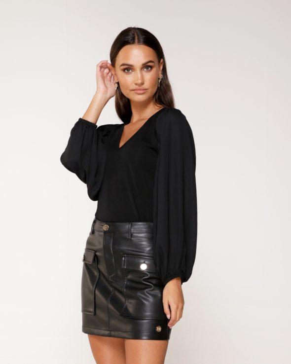 Delousion skirt nica black