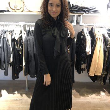 Plisse skirt black