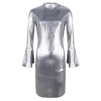 Delousion dress linny shiny grey