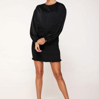 Delousion dress sera black