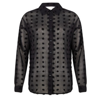 Delousion top dot black