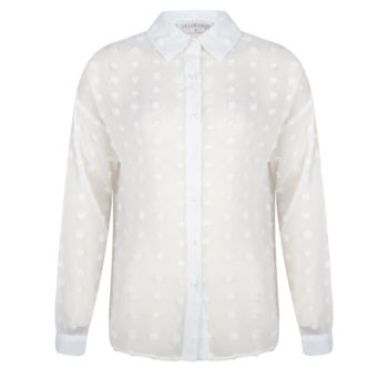 Delousion top dot white