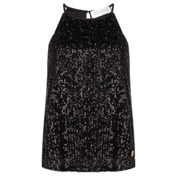 Delousion top sparkle black