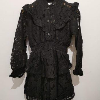 Girls collection lace dress black