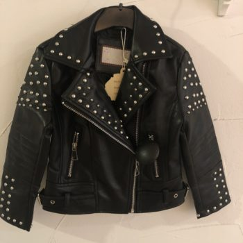 Girls collection leather look jacket black