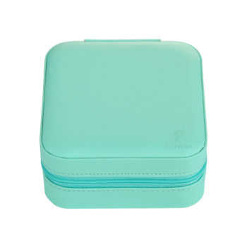 Travel kit on the road turquoise