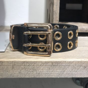 Black belt with gold details