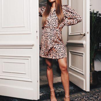 Delousion skirt philly orange leopard