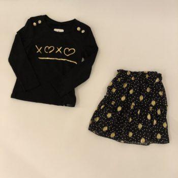 Girls collection skirt dot gold