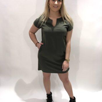 Groene vhals tuniek jurk