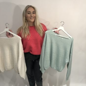 Knitted sweater different colors