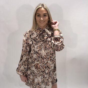 Print blouse Beige