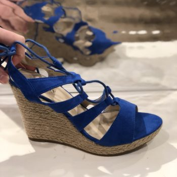 Kobalt blauwe sleehak