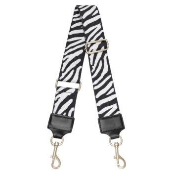 Bag strap zebra black