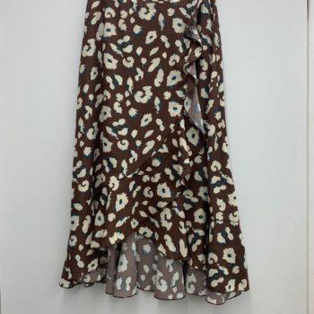 Ruffle skirt brown