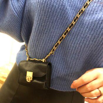 Mini bag black gold
