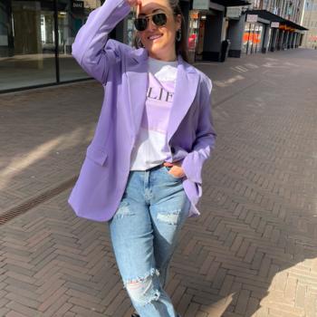 Oversized blazer lila
