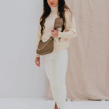 Split legging off white