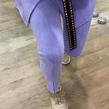 Suedine legging lila