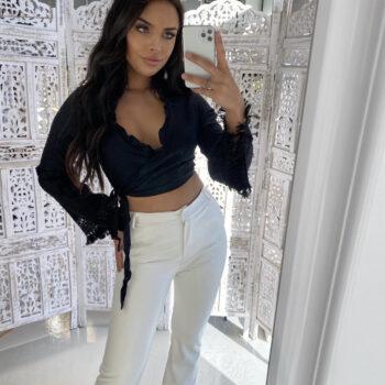 Elena top black