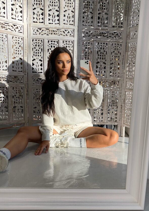 beverly hills sweater white