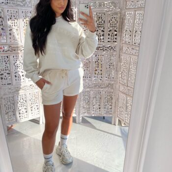 beverly hills sweater white