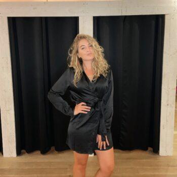 Satin dress zwart